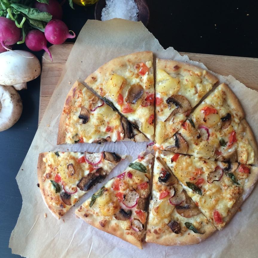 HVIT ITALIENSK PIZZA